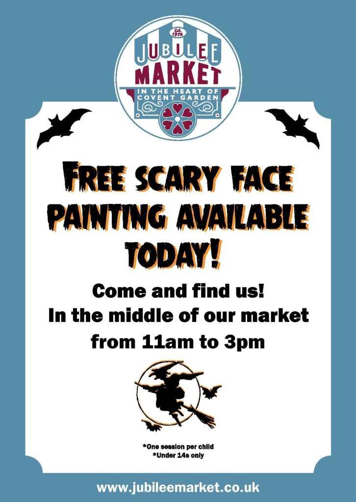 Jubilee Market Halloween flyer