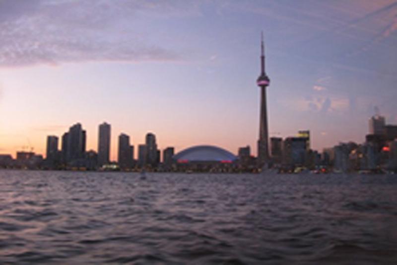 Jubilee Queen Cruise Toronto skyline at sunset