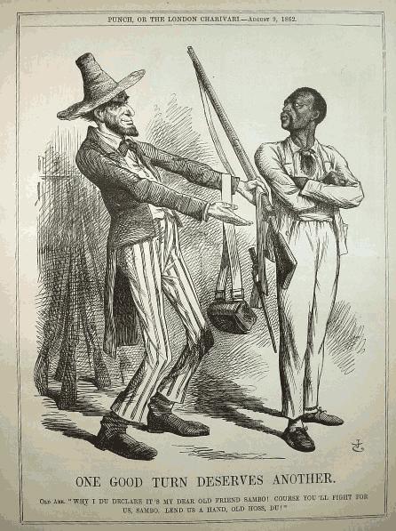 Frederick Douglass Fighting Against A White Mans War