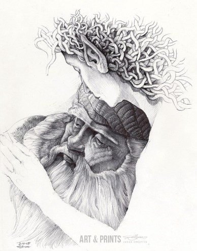 Comforter Dreams by Judah Fansler. Ball point pen