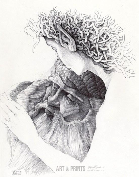 Comforter Dreams by Judah Fansler. Ball point pen