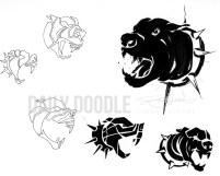 Pit Logo Doodles - Judah creative doodling for a logo concept