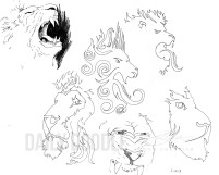 Lion Doodles by Judah Fansler (Yet another Daily Doodle) - Design Ninja, Artist, Owner at Judah Creative, a Graphic Design & Illustraiton Studio near Branson & Springfield, MO.