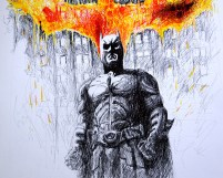 The Dark Knight - Illustration Phase 3 by Judah Fansler - Artist, Designer, Owner at Judah Creative, a full service Graphic Design & Illustration studio near Branson and Springfield, MO.