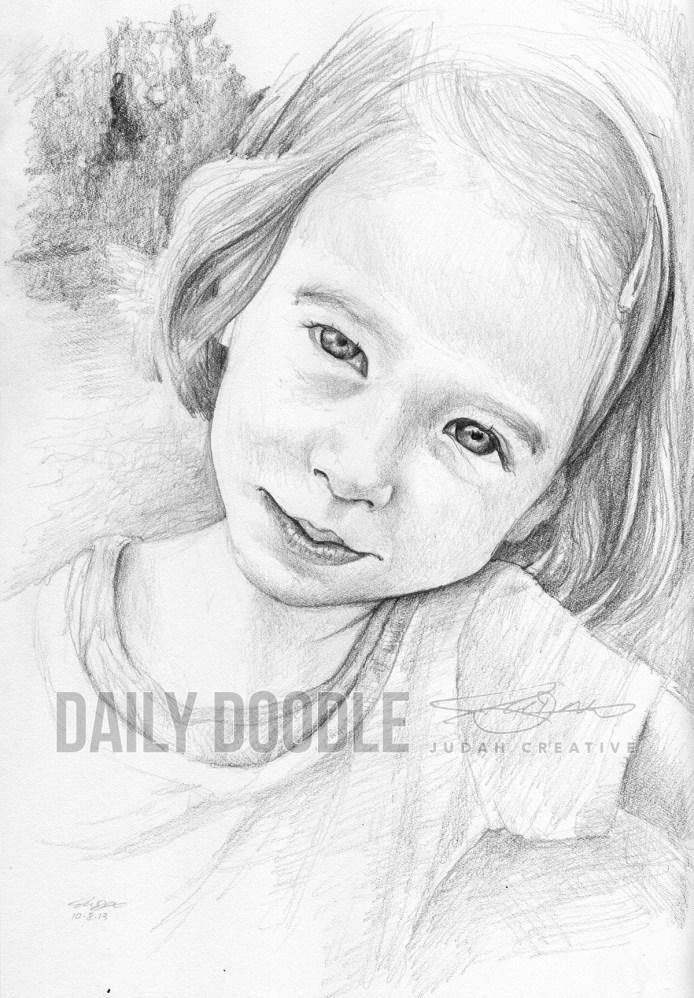100813 Portrait Study: Shiloh Sketch 2