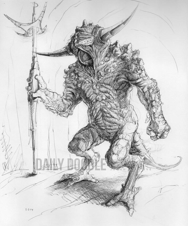 010214 Demon Legend standing by Judah Fansler, Artist & Owner at Judah Creative, a full service graphic design & Illustration studio near Branson, MO & Springfield, MO