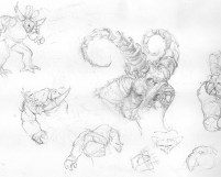 100614 Demon Legend Pencil Sketches by Judah Fansler, Artist and Design Ninja at Judah Creative