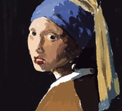 032814 Digital Painting 9 Vermeer Study_Phase 1 by Judah Fansler, Artist, Designer, Illustrator at Judah Creative, A full service Graphic Design & Illustration Studio