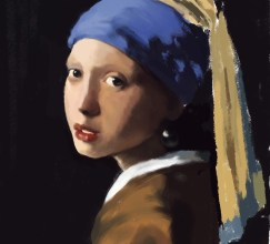 032914 Vermeer Study_phase 2 by Judah Fansler, Artist, Designer, Illustrator at Judah Creative, A full service Graphic Design & Illustration Studio