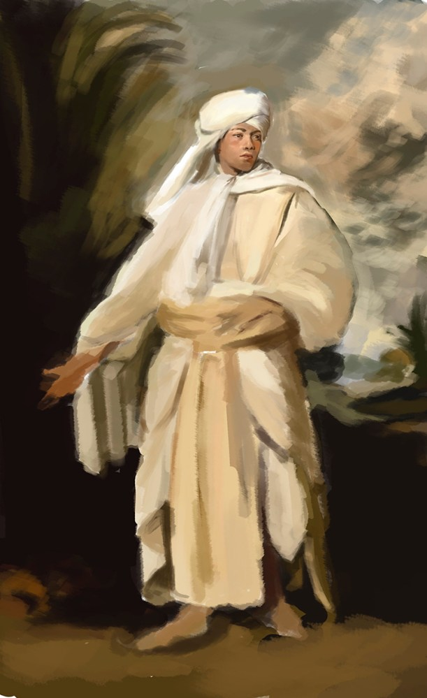 Digital Painting Doodle #10: Study of Joshua Reynolds' Omai: Phase 1 by by Judah Fansler, Artist, Designer, Illustrator at Judah Creative, A full service Graphic Design & Illustration Studio