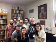 Team ZyGoLife meets to plan research at the University of Florida Fungal Herbarium, January 2014