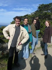 Vilgalys lab postdocs pose for a photo at Point Lobos, Asilomar Fungal Genetics Meeting, March 2013