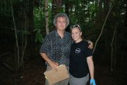 Dr. Vilgalys and I sampling Pine ECM roots in Texas, just after MSA 2013