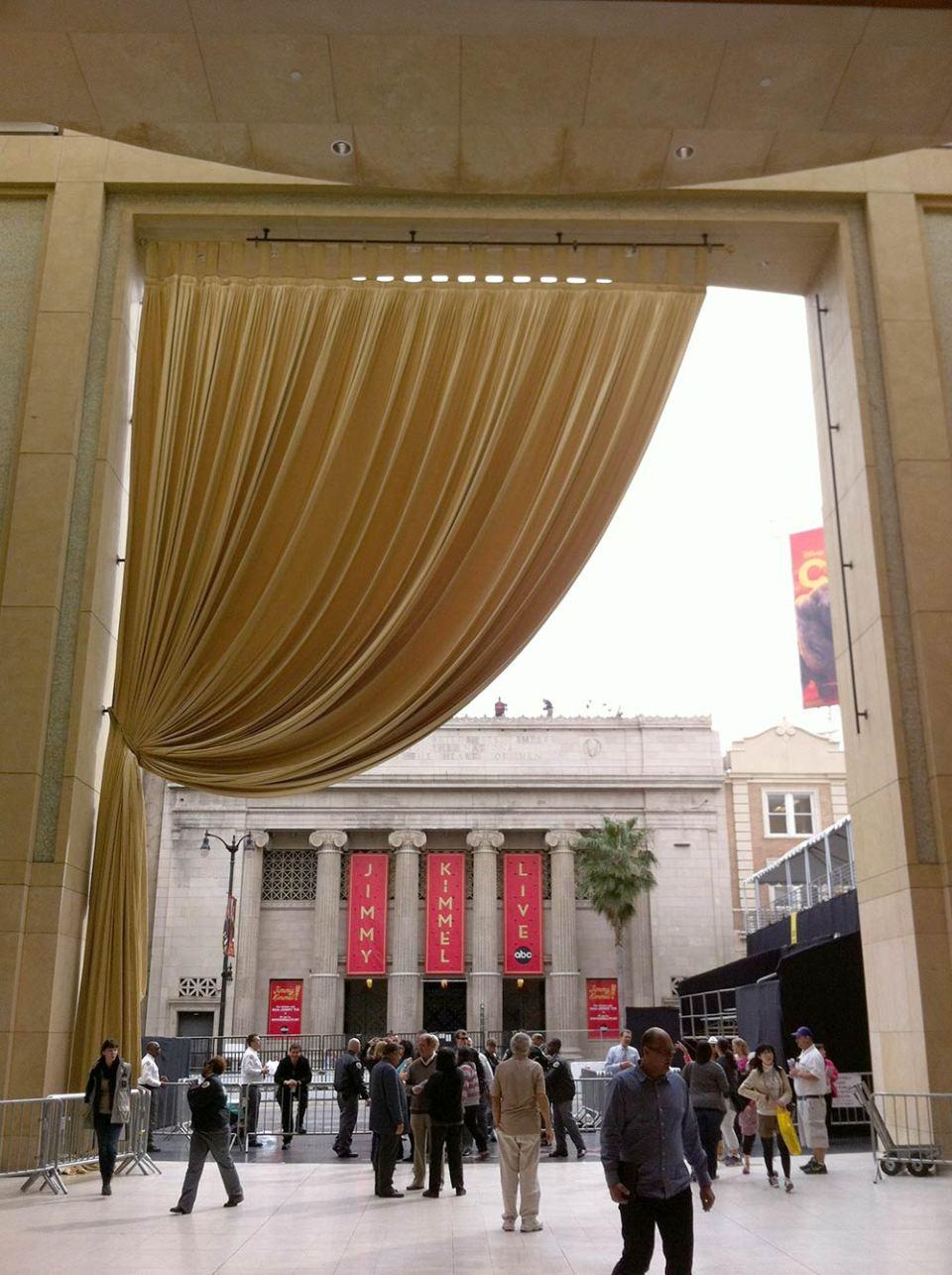 Quem entra no Dolby Theatre e olha pra trás, no dia do Oscar, vê mais ou menos isso (Foto: Thiago Borbolla / JUDAO.com.br)