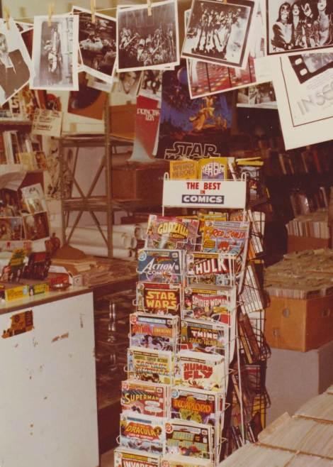 Uma antiga comic shop