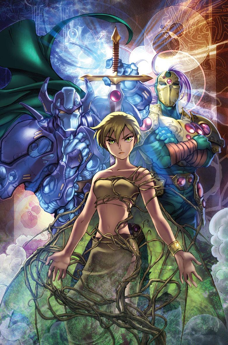 Mestre Arsenal, Lisandra e Paladino: três dos personagens recorrentes de Holy Avenger/Tormenta