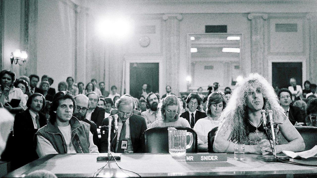 Dee Snider na audiência pública no senado dos EUA