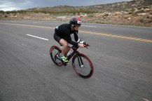 Ironman 70.3 St. George participants ride their bikes through Washington Saturday, May 7, 2016.