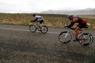 Ironman 70.3 St. George participants compete in the bike portion of the event on the roads of Southern Utah Saturday, May 7, 2016.