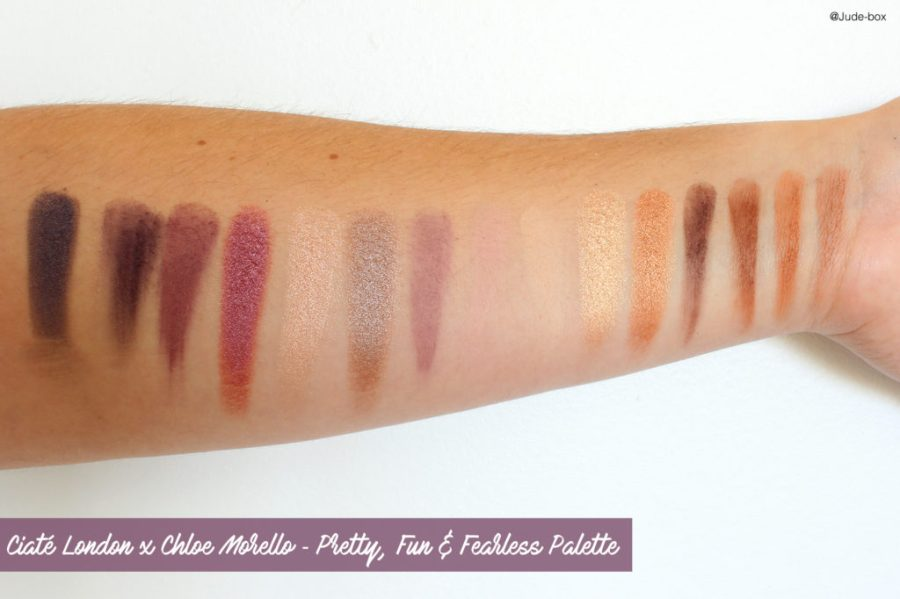 Ciaté London x Chloe Morello ✻ Pretty, Fun & Fearless Palette Swatches
