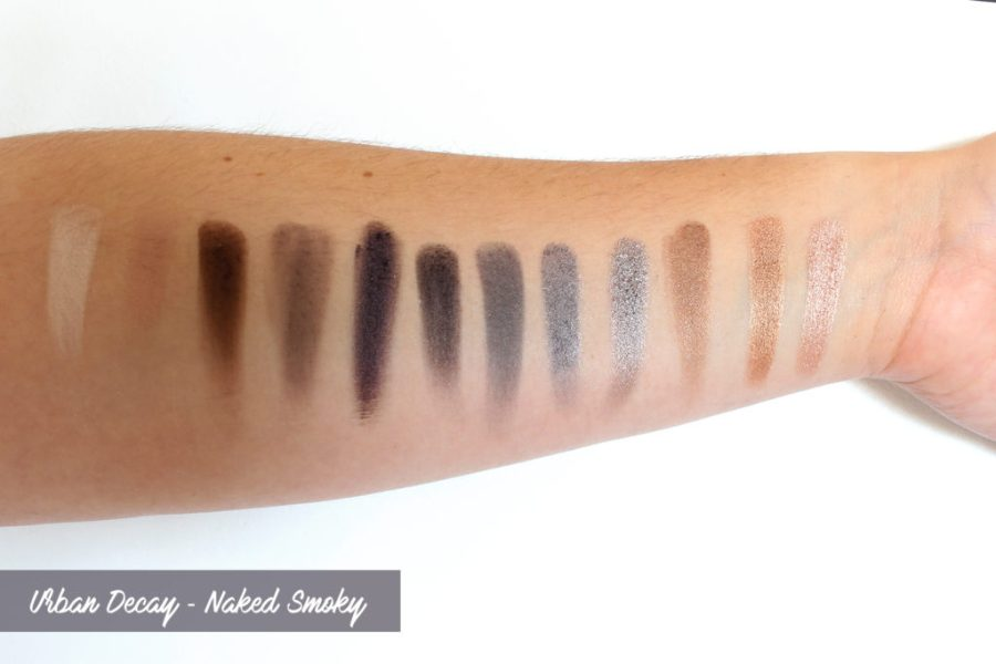 Urban Decay - Naked smoky swatches