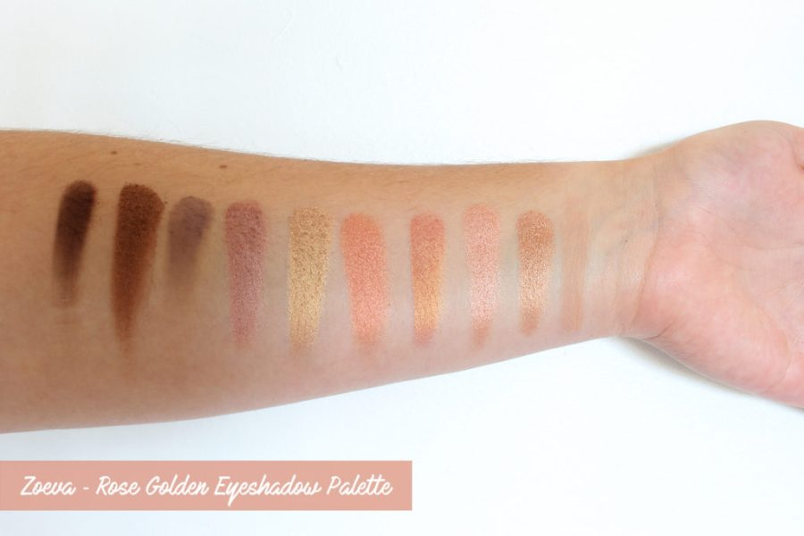 Zoeva ✻ Rose Golden Palette Swatches