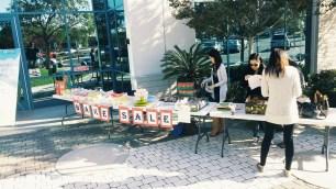 Bake Sale setting up~