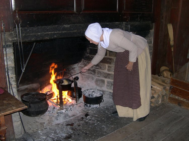 in a bit of a jam cooking in a cottage kitchen in 1807
