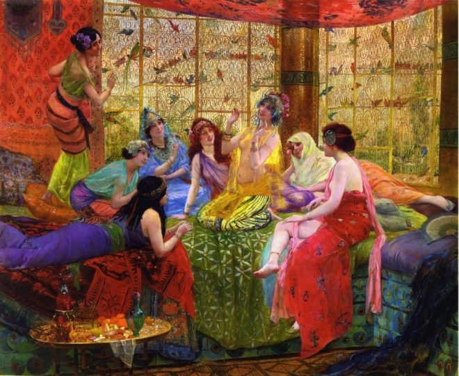 georges-antoine-rochegrosse-french-1859-1938-e28093-harem-girls-in-an-aviary