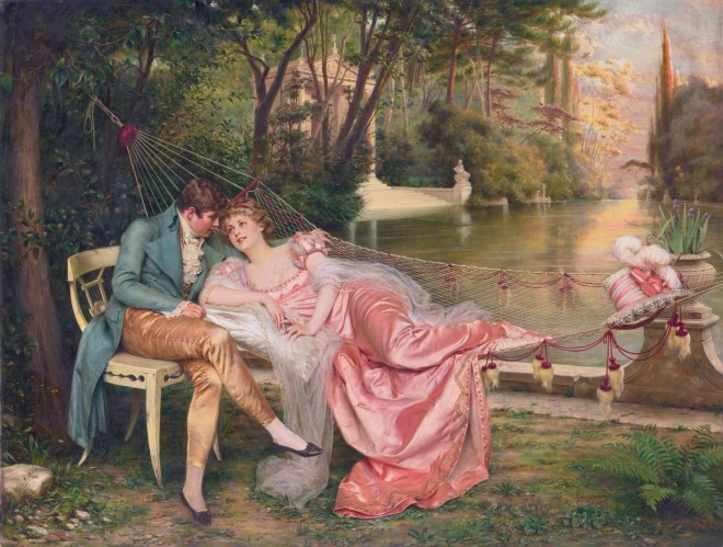 Flirtation *oil on canvas *65 x 85.7 cm *signed ab.r.: F. Soulacroix