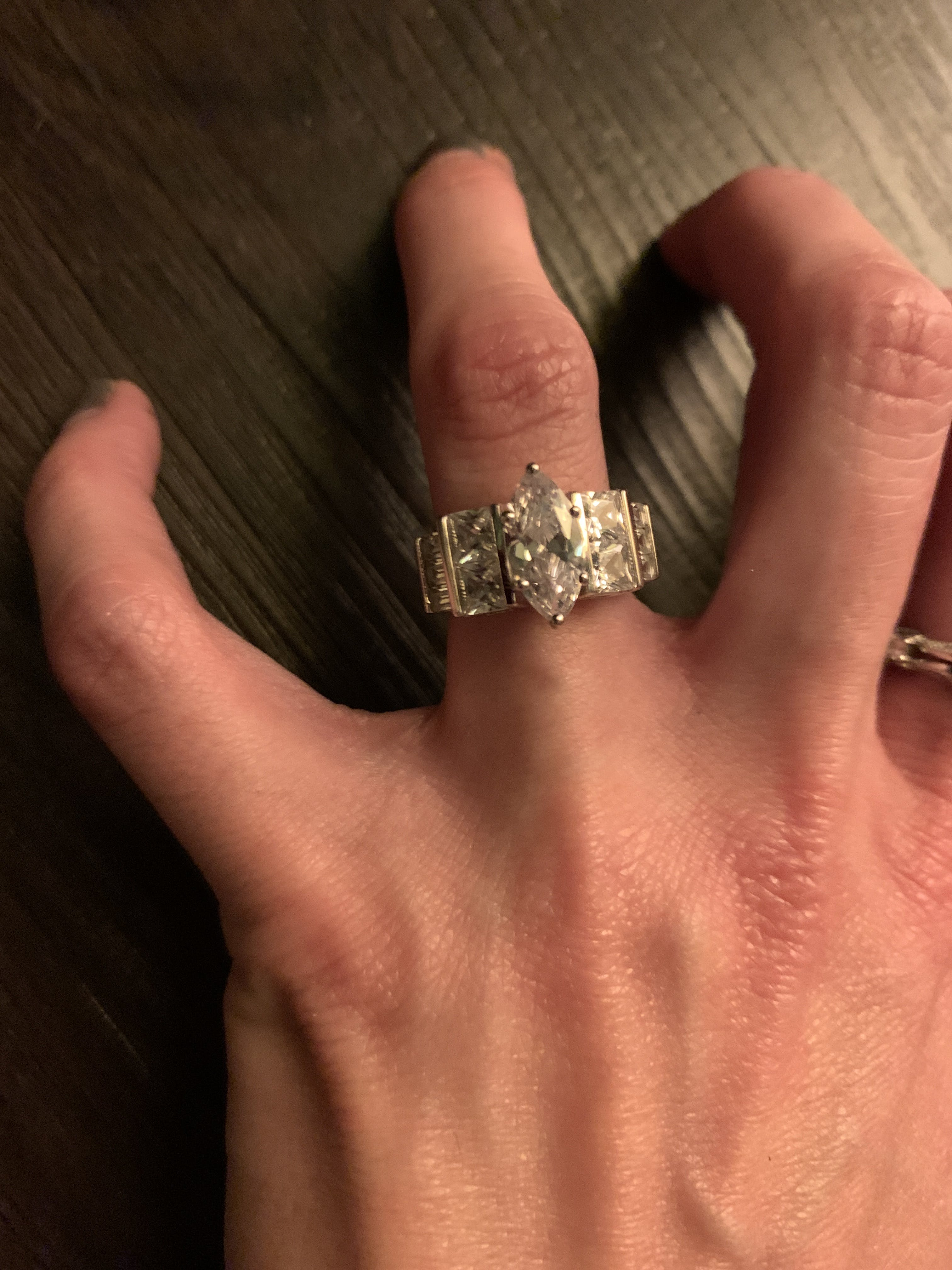 Dreamland Jewelry Rings : dreamland, jewelry, rings, Sterling, Silver, Marquise, Engagement, Clear