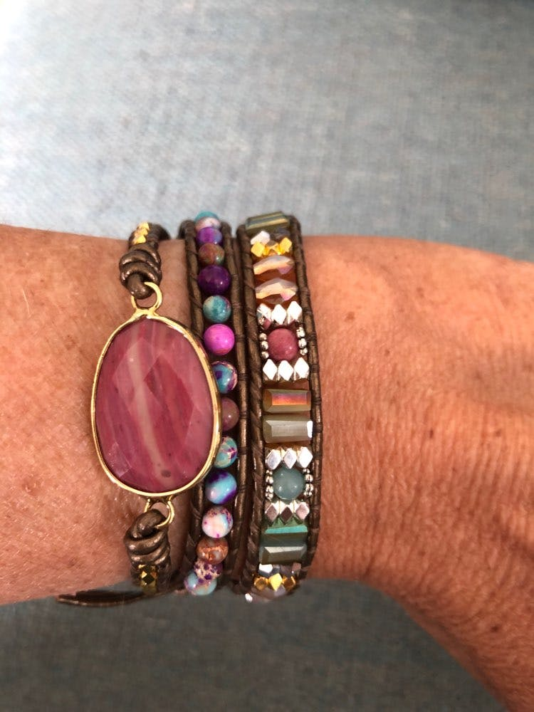 Fancy Dream - Bohemian Leather wrap bracelet