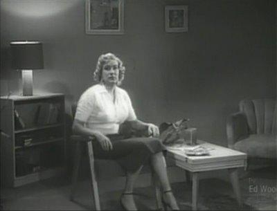 Edward D. Wood, Jr. on the set of Glen or Glenda