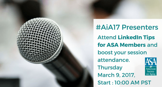 #AiA17 Presenters Learn How to Promote Your Session