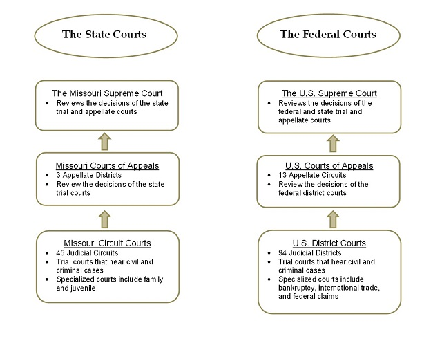 judicial branch court system diagram electrical software open source what is the difference between state and federal courts dual
