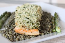 French Lentils with Salmon