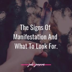 signs of manifestation