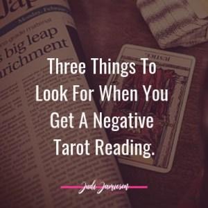Negative tarot reading