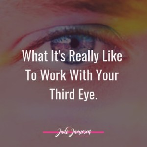 Work with your third eye