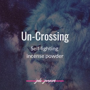 UnCrossing self lighting incense powder