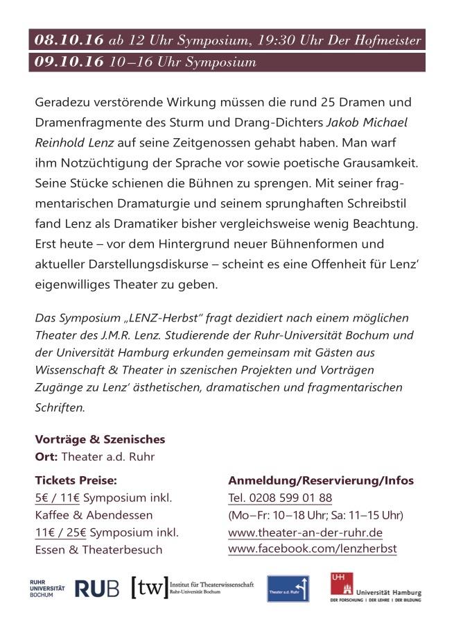 Flyer Lenz-Symposium Rückseite