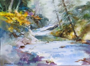 Northern Stream - 14x20 - watercolor - $295
