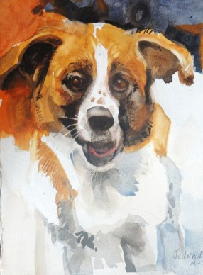 My Daughters Dog - 15x11 - watercolor - $75