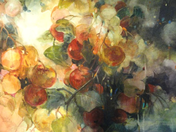 Apples in a Tree - 22x30 - watercolor - $375