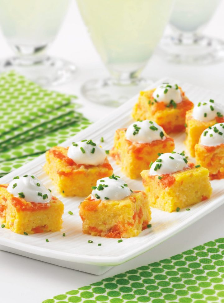 Smoked Salmon and Grits Cakes(page 60)