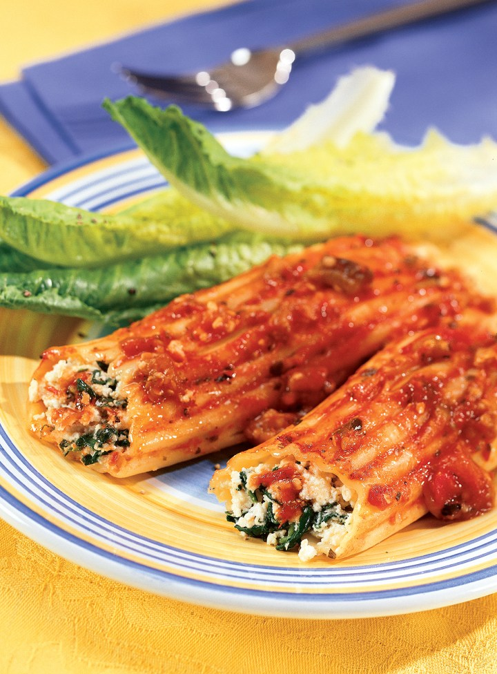Cannelloni with Tomato Eggplant Sauce