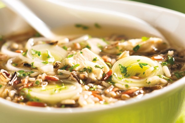 Gingery Chicken and Wild Rice Soup