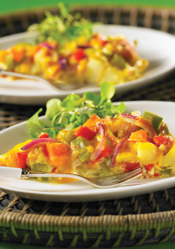 Potato Tortilla with Peppers