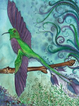 Hummingbird painting card