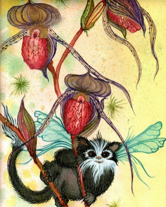Orchid monkey poster 5-7 card